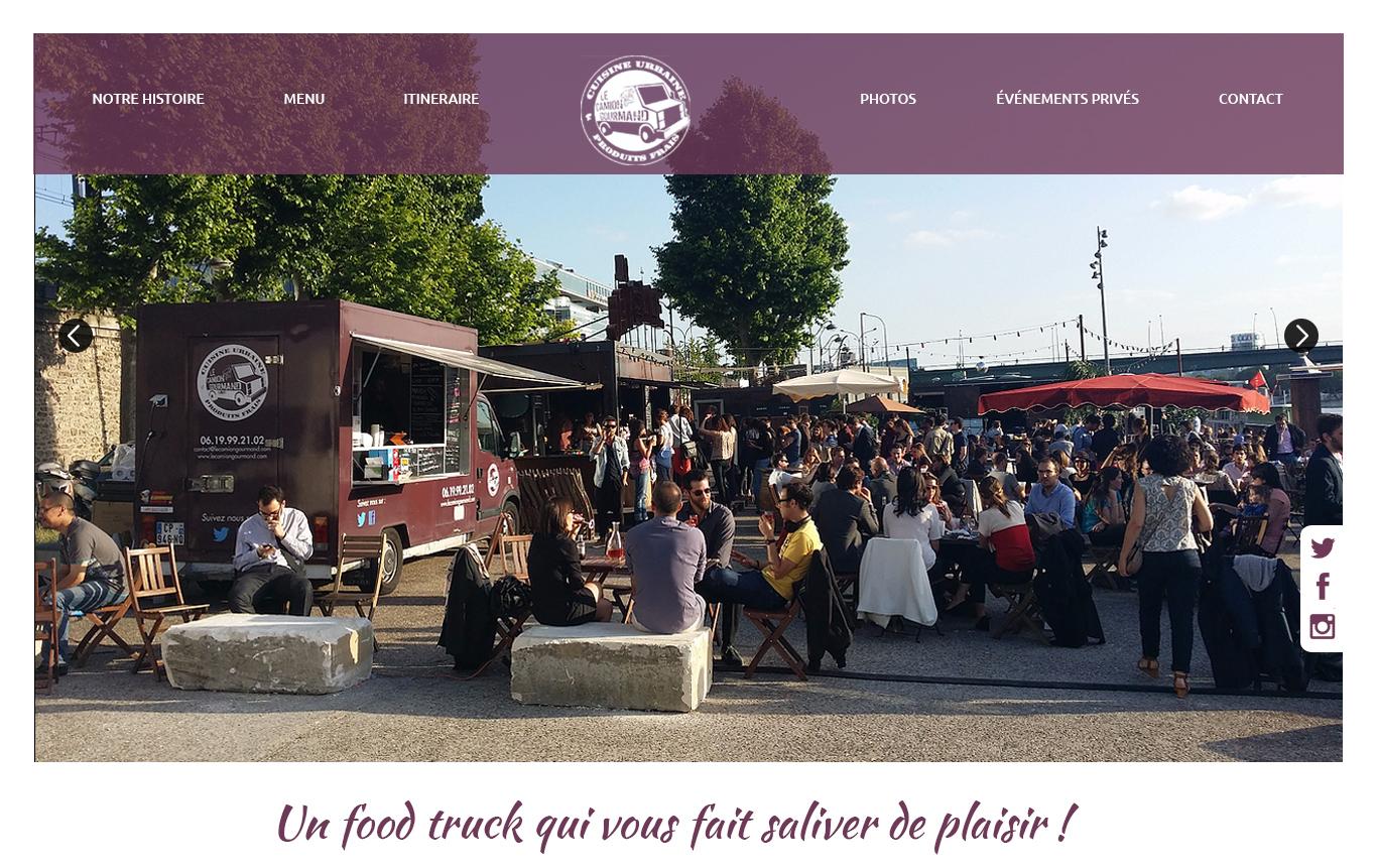 Projet de webdesign du foodtruck Le Camion Gourmand