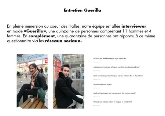 Entretien Guerilla, fiche parlant de la méthode avec laquelle nous avons interviewé des potentiels utilisateurs de notre future application