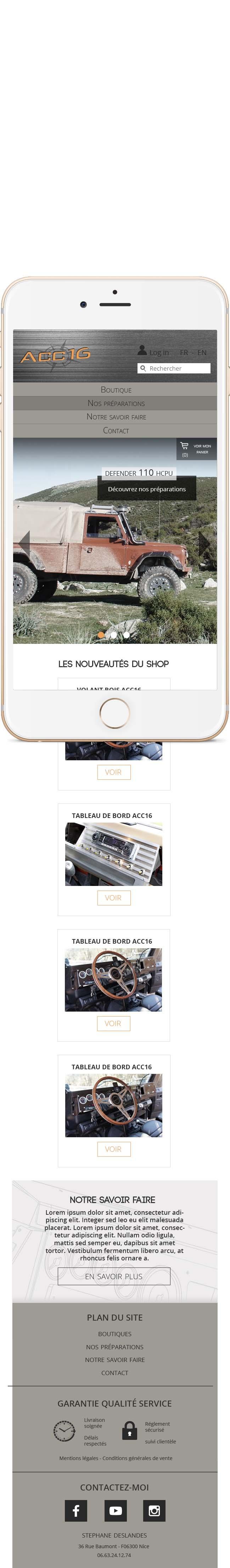 Homepage ACC16 en version mobile